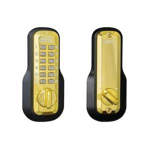 Single Cylinder Deadbolt Bright Brass Digital Keypad
