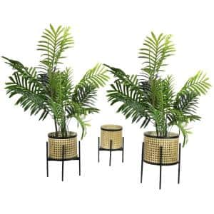 Bohemian Indoor Plant Stand, Potted Plant Holder, Large, Medium, Small (Set of 3)