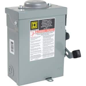 30 Amp 240-Volt 2-Pole Non-Fusible Outdoor General Duty Safety Switch