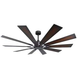 Fusion 66 in. Indoor/Outdoor Oil Rubbed Bronze Smart Ceiling Fan with Remote Control