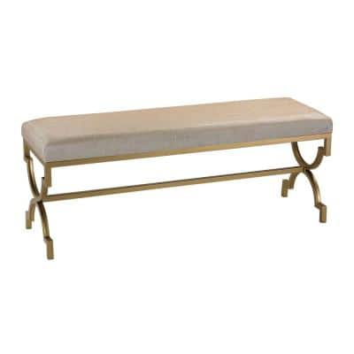 Gold and Cream Bench