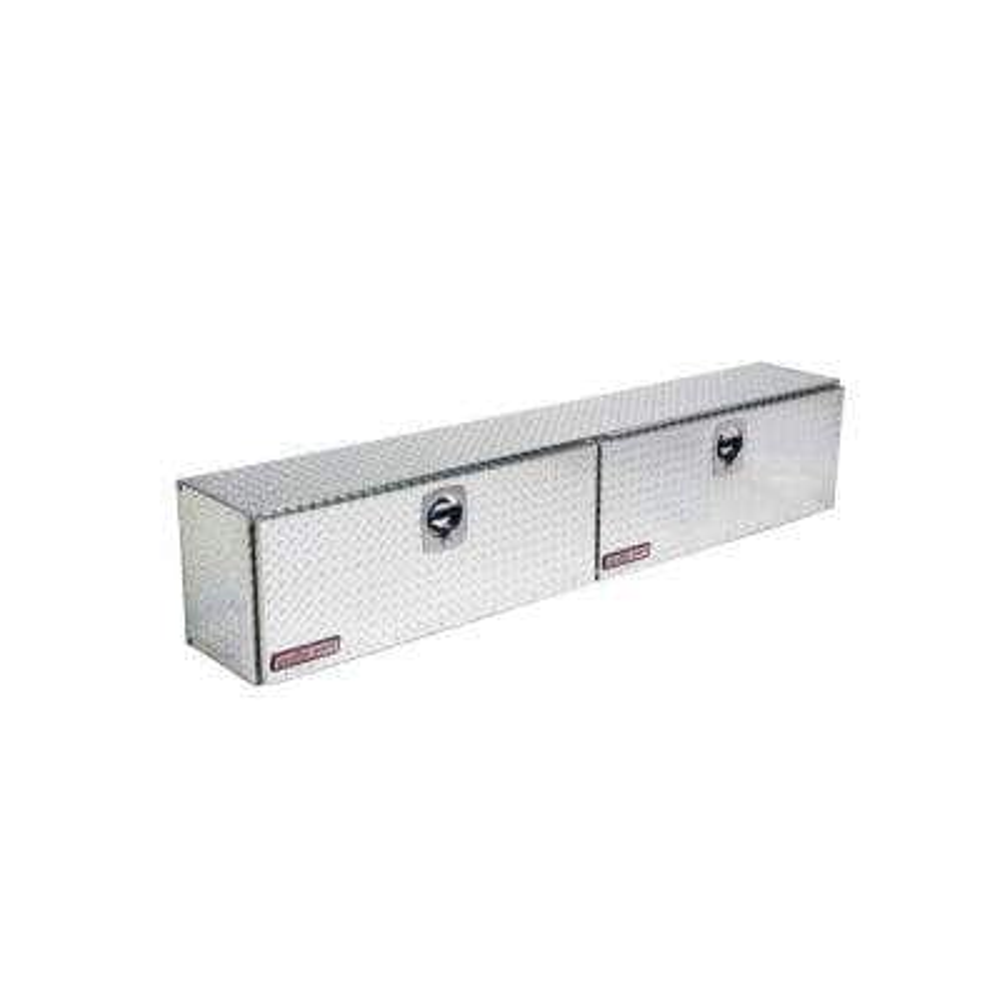 90.25 Diamond Plate Aluminum Full Size Top Mount Truck Tool Box