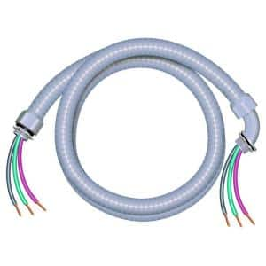 1/2 in. x 6 ft. 10/3 Ultra-Whip Liquidtight Flexible Non-Metallic PVC Conduit Cable Whip