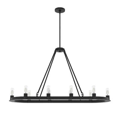 Saddlewood 10-Light Natural Iron Linear Chandelier