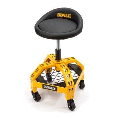 24 in. H x 16 in. W x 16 in. D Adjustable Shop Stool with Casters