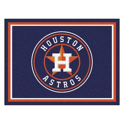 MLB Houston Astros Navy Blue 8 ft. x 10 ft. Indoor Area Rug