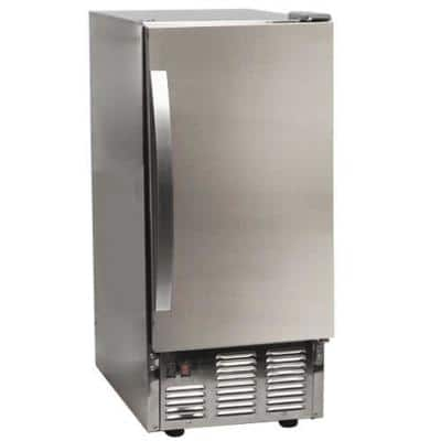 15 in. 50 lb. Built-In Outdoor Ice Maker in Stainless Steel