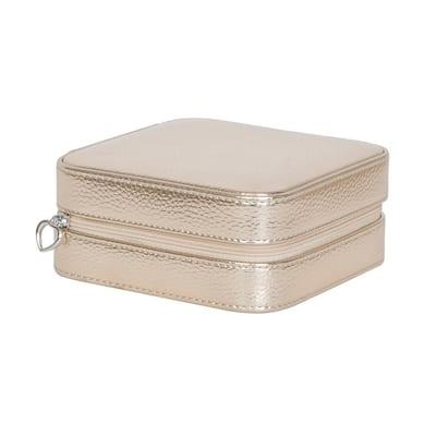 Luna Gold Faux Leather Jewelry Box