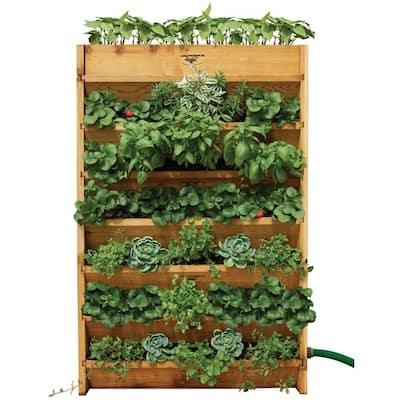 32 in. W x 45 in. H x 9 in. D Vertical Garden Bed