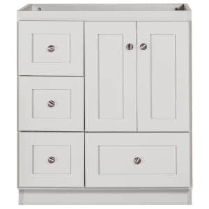 Shaker 30 in. W x 21 in. D x 34.5 in. H Simplicity Vanity with Left Drawers in Dewy Morning
