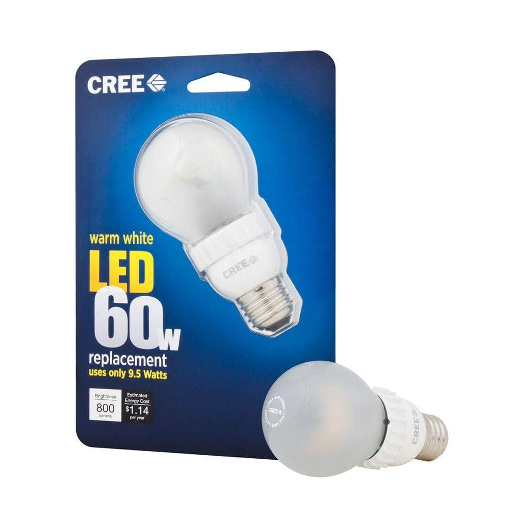 Cree 60W Equivalent Warm White (2700K) A19 Dimmable LED Light Bulb