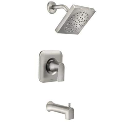 Genta Single-Handle 1-Spray Tub and Shower Faucet in Spot Resist Brushed Nickel (Valve Included)