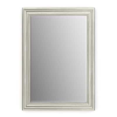 29 in. W x 41 in. H (M3) Framed Rectangular Deluxe Glass Bathroom Vanity Mirror in Vintage Nickel