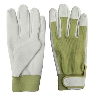 9.5 in. Leather Gardening Ladies Gloves