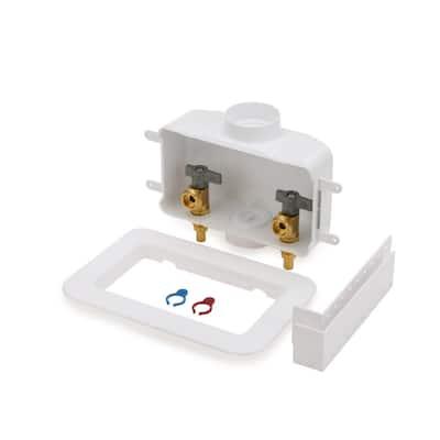 Centro II 1/2 in. Brass PEX1807 Washing Machine Outlet Box