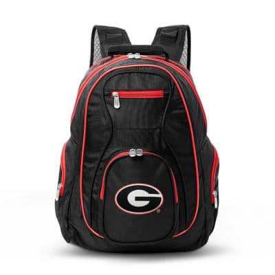 NCAA Georgia Bulldogs 19 in. Black Trim Color Laptop Backpack