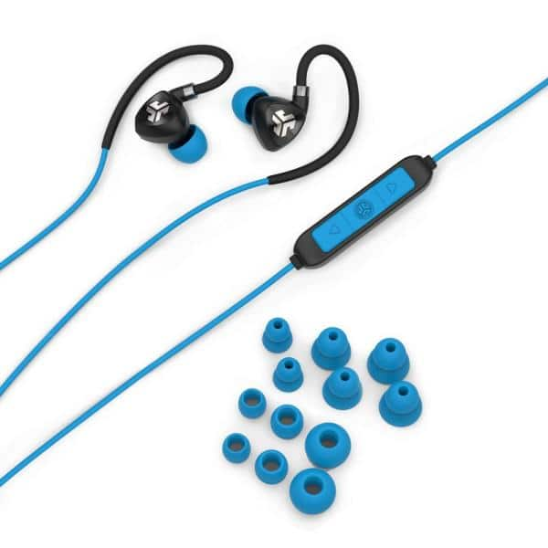 Reviews For Jlab Fit Sport Wireless Earbuds In Black Blue Ebfit2rblkblu123 The Home Depot