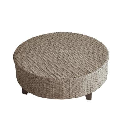 Round Wicker Outdoor Coffee Table