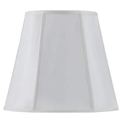 18 in. White Vertical Piped Deep Empire Shade