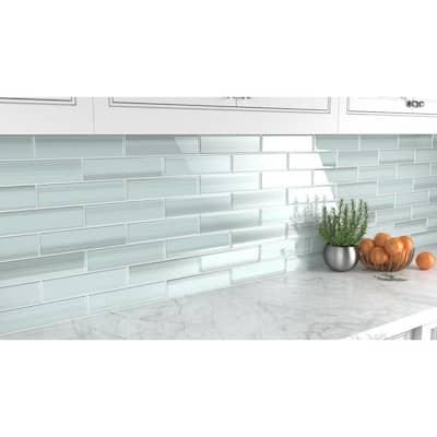 Vesper 3 in. x 12 in. Glass Tile for Kitchen Backsplash and Showers (10 sq. ft./per Box)