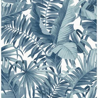 Botanical Navy Wallpaper Home Decor The Home Depot