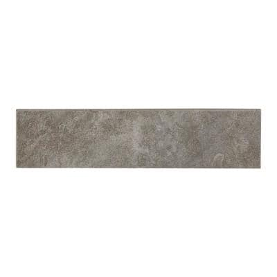 Nova Falls Gray 3 in. x 12 in. Glazed Porcelain Bullnose Trim Tile (0.25 sq. ft./Piece)
