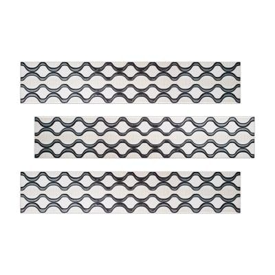 Decor 3 in. x 16 in. Black and White Multicolor Ceramic Decorative Listello Wall Tile (3-Pack)