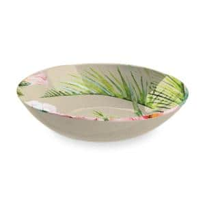 12 in. - 142 oz. Palermo Tropical Bamboo Serve Bowl