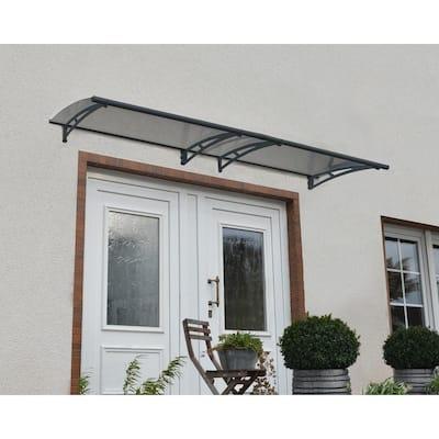 Aquila 3 ft. x 10 ft. Gray/Solar Gray Door and Window Awning