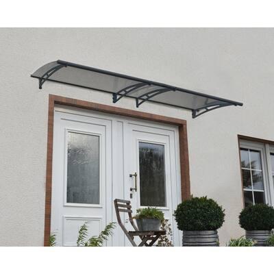 Aquila 3000 9 ft. 10 in. Solar Gray Door Canopy Awning