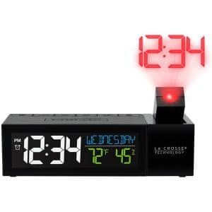 Pop-Up Bar Projection Electric Alarm Clock with USB Charging Port