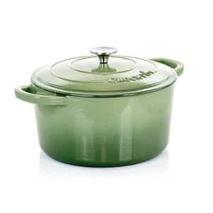Artisan 7 qt. Round Cast Iron Nonstick Dutch Oven in Pistachio Green with Lid