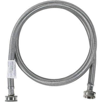4 ft. Braided Stainless Steel Washing Machine Hose (40-Pack)