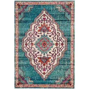 Monaco Blue/Multi 6 ft. 7 in. x 9 ft. 2 in. Area Rug
