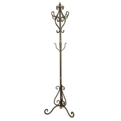 Oil-Rubbed Bronze Scrolled Coat Tree