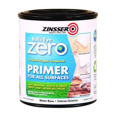 Bulls Eye Zero 1 qt. White Water-Based Interior/Exterior Primer and Sealer (6-Pack)
