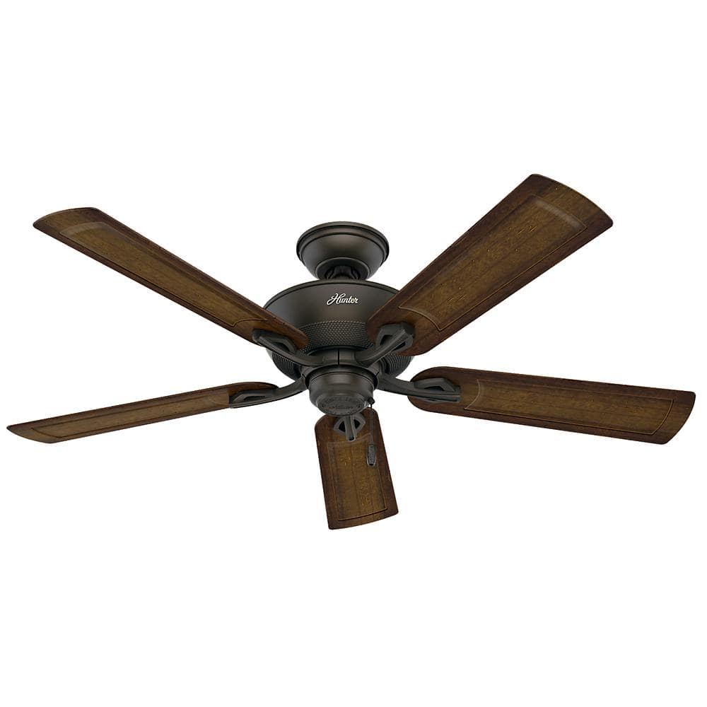 Hunter Caicos 52 In Indoor Outdoor New Bronze Wet Rated Ceiling Fan 53212 The Home Depot