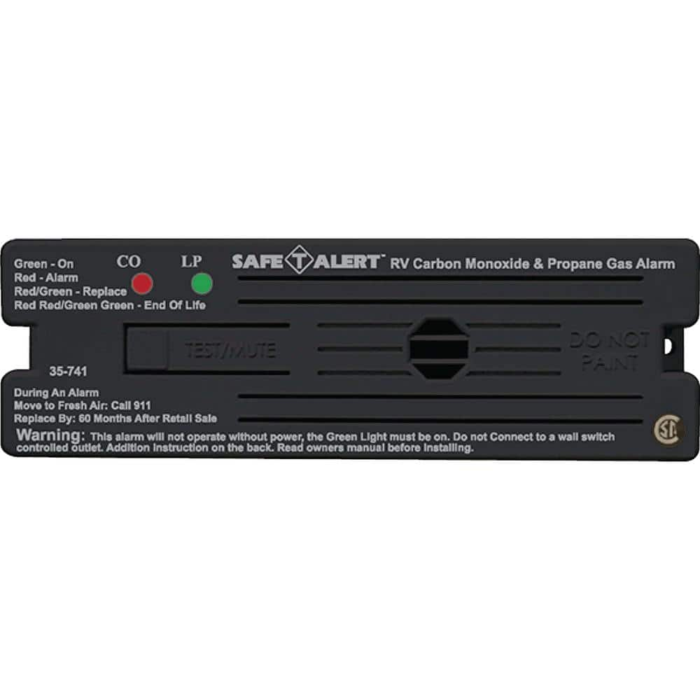 Mti Industries 35 Series 12 Volt Safe T Alert Surface Mount Rv Dual Carbon Monoxide Propane Alarm In Black 35 741 Bl The Home Depot