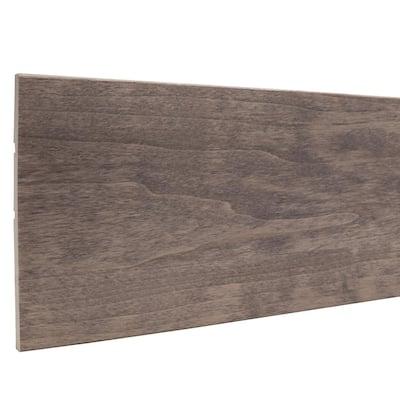 7/16 in. x 5-1/2 in. x 96 in. Prestained Gray Wood Base Moulding