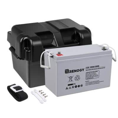 12-Volt 100 mAh Deep Cycle AGM Battery with Battery Box