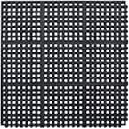 Black 36 in. x 36 in. Rubber Anti-Fatigue Comfort Mat
