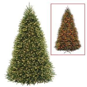 9 ft. PowerConnect Dunhill Fir Artificial Christmas Tree with Dual Color LED Lights