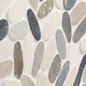 Countryside Sliced Flat Oval 11.81 in. x 11.81 in. Multicolored Floor and Wall Mosaic (0.97 sq. ft. / sheet)