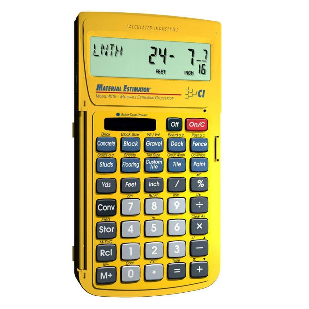 Calculated Industries Material Estimator Calculator-4019 - The Home Depot