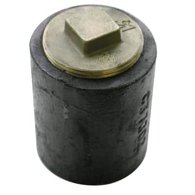 3 in. Plain End Cast Iron Cleanout Short Pattern with 2-1/2 in. Raised Head (Low Square) Southern Code Plug for DWV