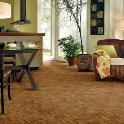 Butterscotch 5/16 in. Thick x 12 in. Wide x 12 in. Length Hardwood Parquet Flooring (25 sq. ft. / case)