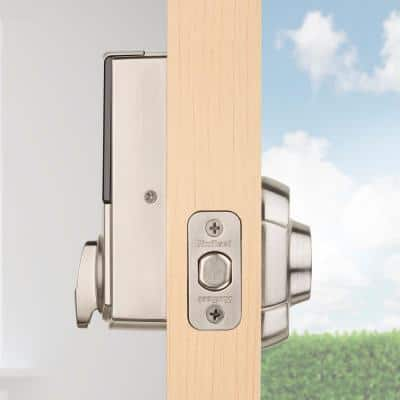 Convert Smart Lock Satin Nickel Conversion Kit featuring Z-Wave Technology