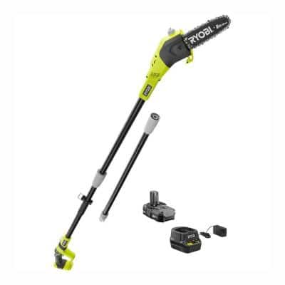 Reconditioned ONE+ 8 in. 18-Volt Lithium-Ion Cordless Pole Saw - 1.3 Ah Battery and Charger Included