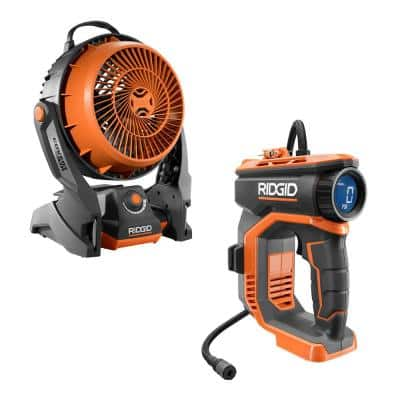 18V Cordless High Pressure Inflator and Hybrid Fan (Tools Only)