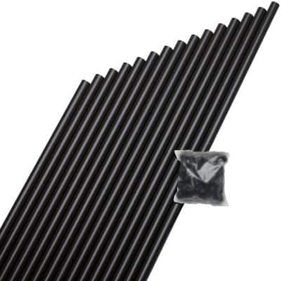 3/4 in. x 32 in. Black Aluminum Round Baluster (15-Pack)
